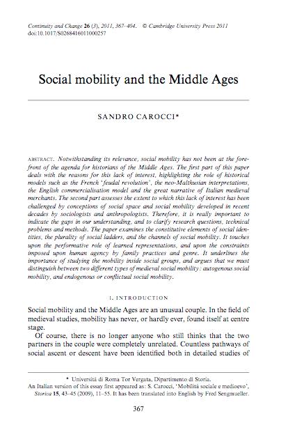 Sandro Carocci - Social Mobility